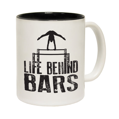 123T Funny Mugs - Life Behind Bars Gymnastics - Coffee Cup