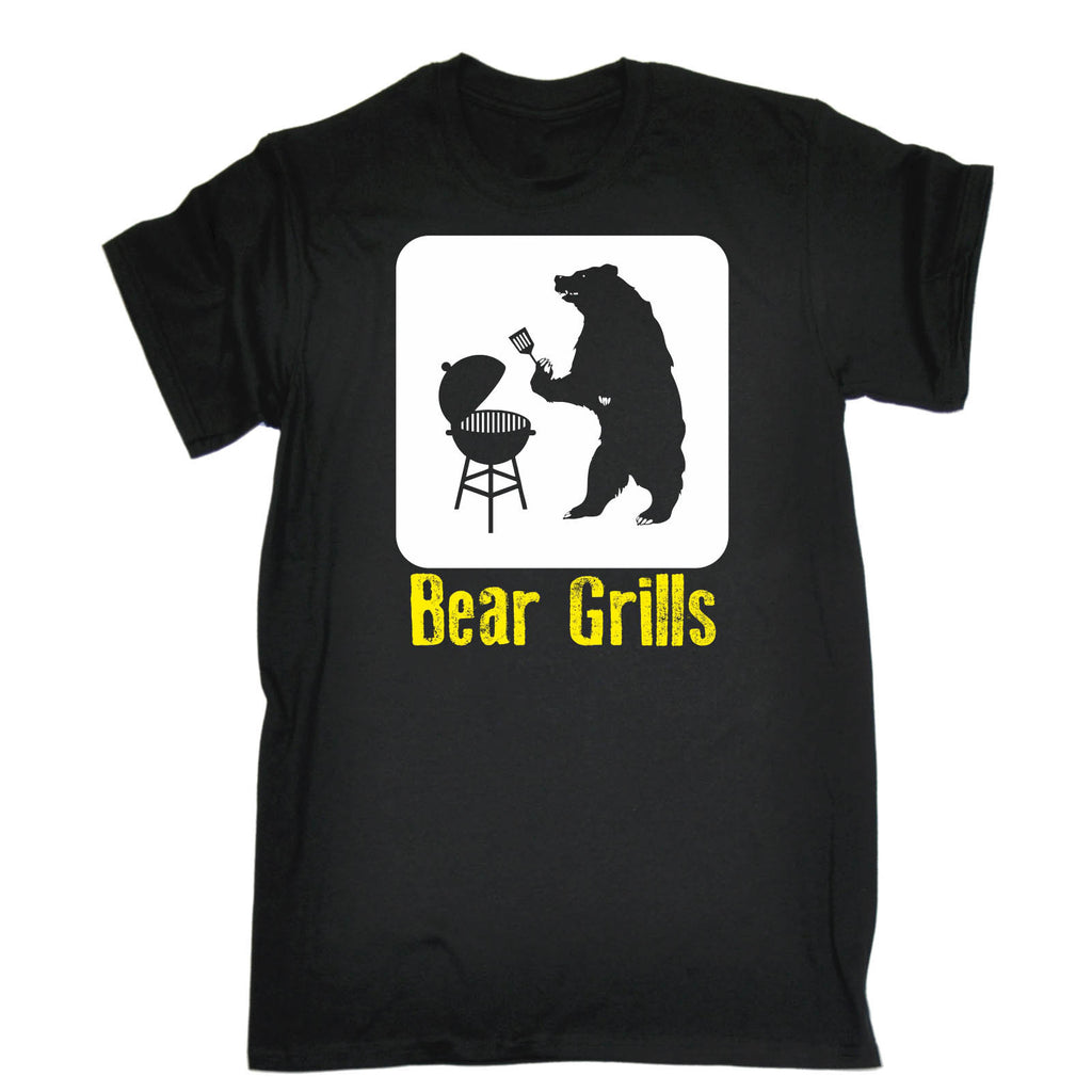 123t Men's Bear Grills BBQ Design T-SHIRT