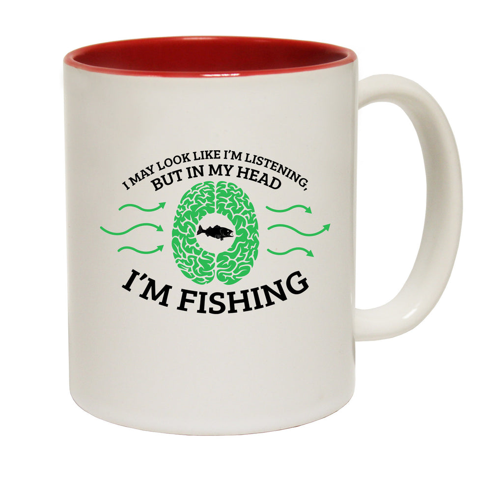 Drowning Worms I May Look Like I'm Listening ... Fishing Funny Mug