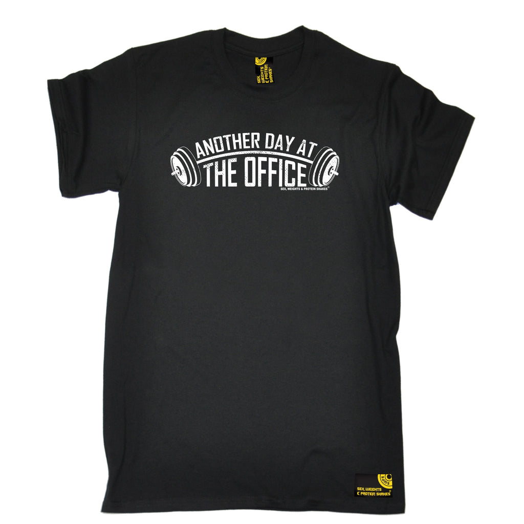 SWPS Men's Another Day At The Office Sex Weights And Protein Shakes Gym T-Shirt