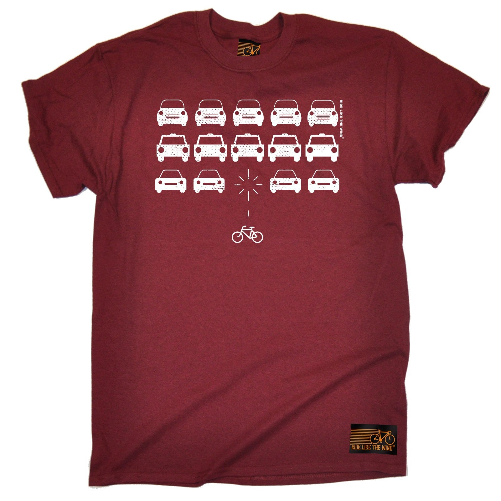 Bike Space Invaders T Shirt Tee Cycling Jersey Bike Cycle Funny
