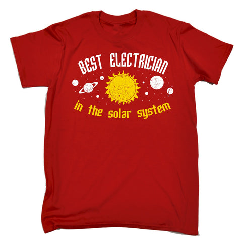123t Men's Best Electrician In The Solar System Galaxy Design Funny T-Shirt