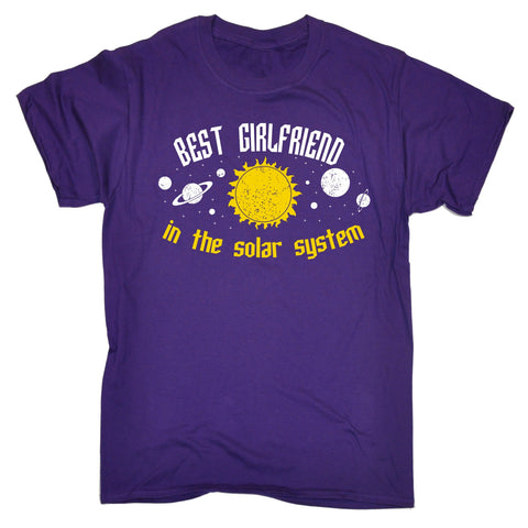 123t Men's Best Girlfriend In The Solar System Galaxy Design Funny T-Shirt, 123t