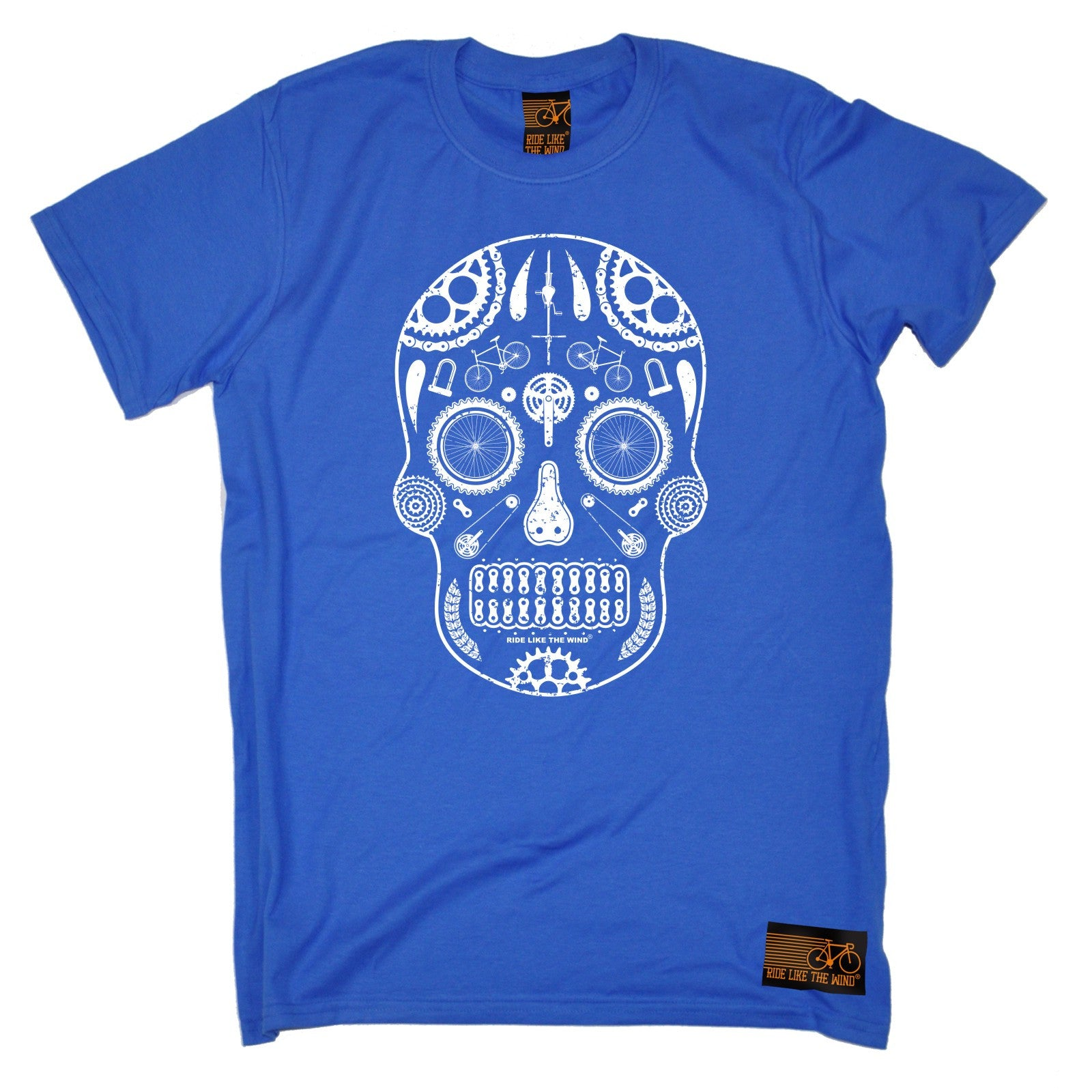 Skull Made From Bike Parts T-SHIRT Tee Cycling Jersey