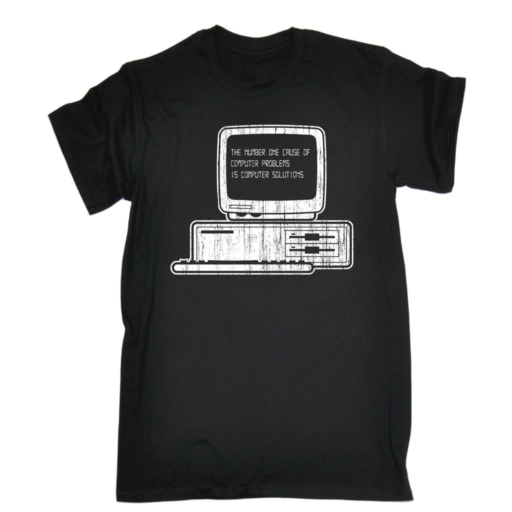123t Men's The Number One Cause Of Computer Problems Is Computer Solutions Funny T-Shirt