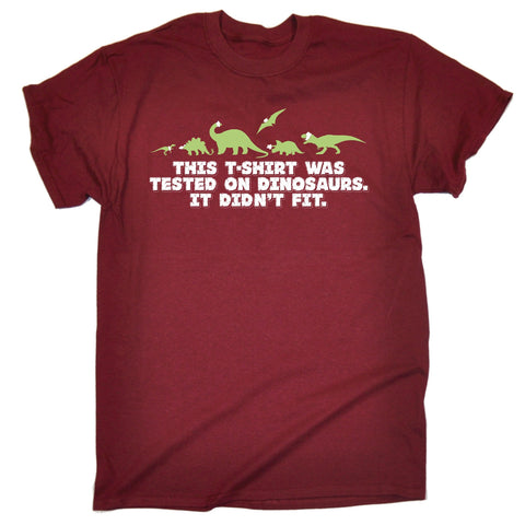 123t Men's This T-Shirt Was Tested On Dinosaurs It Didn't Fit Funny T-Shirt