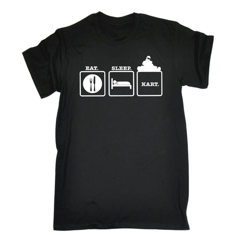 123t Men's Eat Sleep Kart Funny T-Shirt