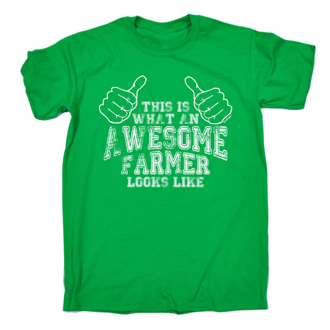 123t Men's This Is What An Awesome Farmer Looks Like Funny T-Shirt