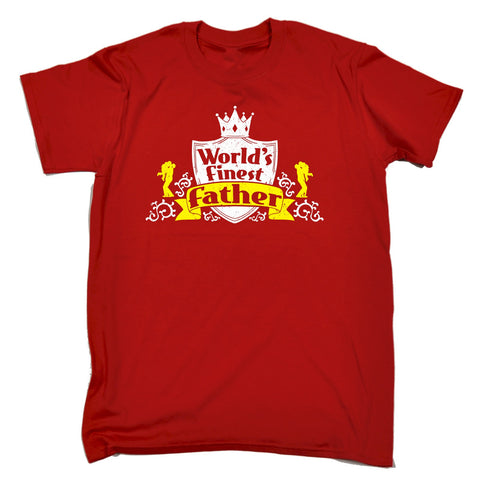 WORLD'S FINEST FATHER T-SHIRT - 123t FUNNY SLOGAN GIFTS