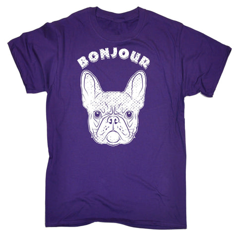 123t Men's Bonjour Frenchie Funny T-Shirt