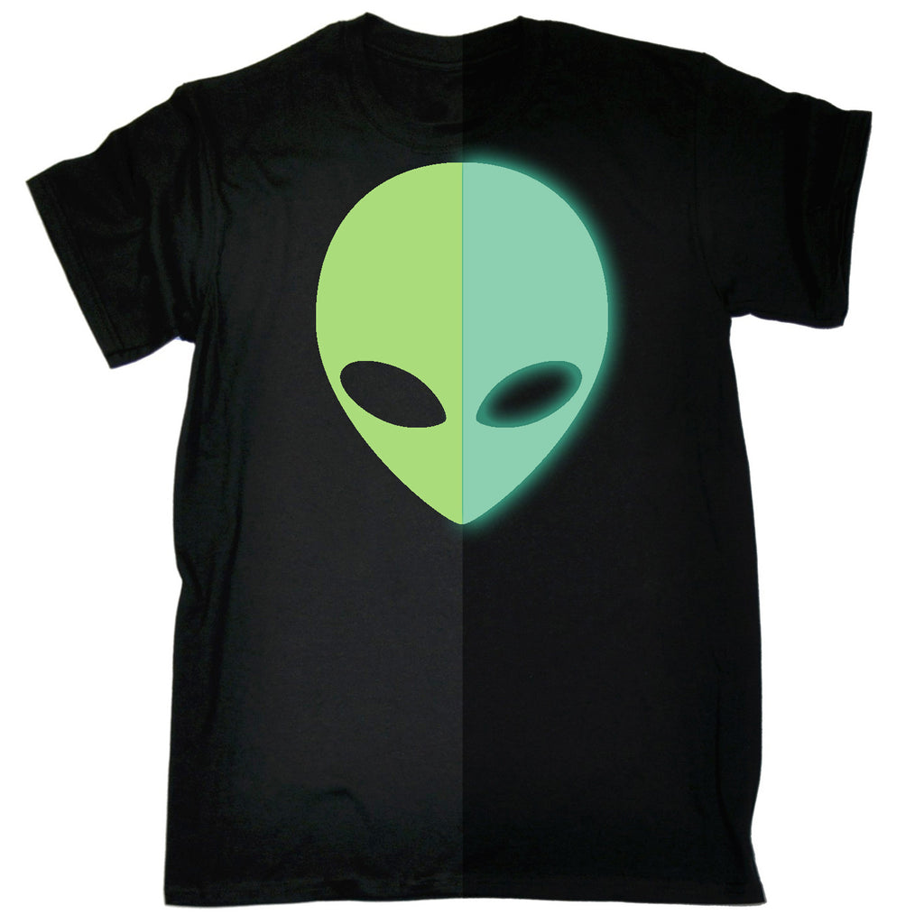 123t Men's Alien Design Glow In The Dark Funny T-Shirt
