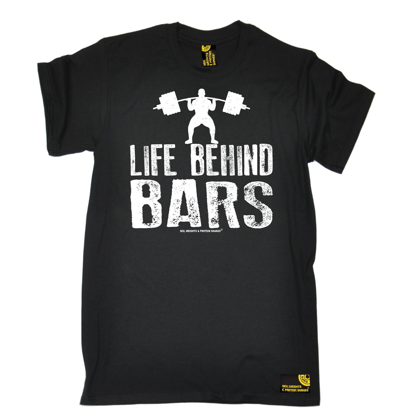 life behind bars weight lifting t shirt tee bodybuilding. Black Bedroom Furniture Sets. Home Design Ideas