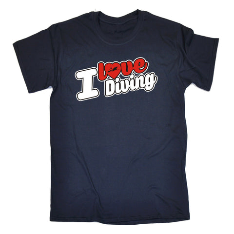 123t Men's I Love Diving Scuba Heart Design Funny T-Shirt