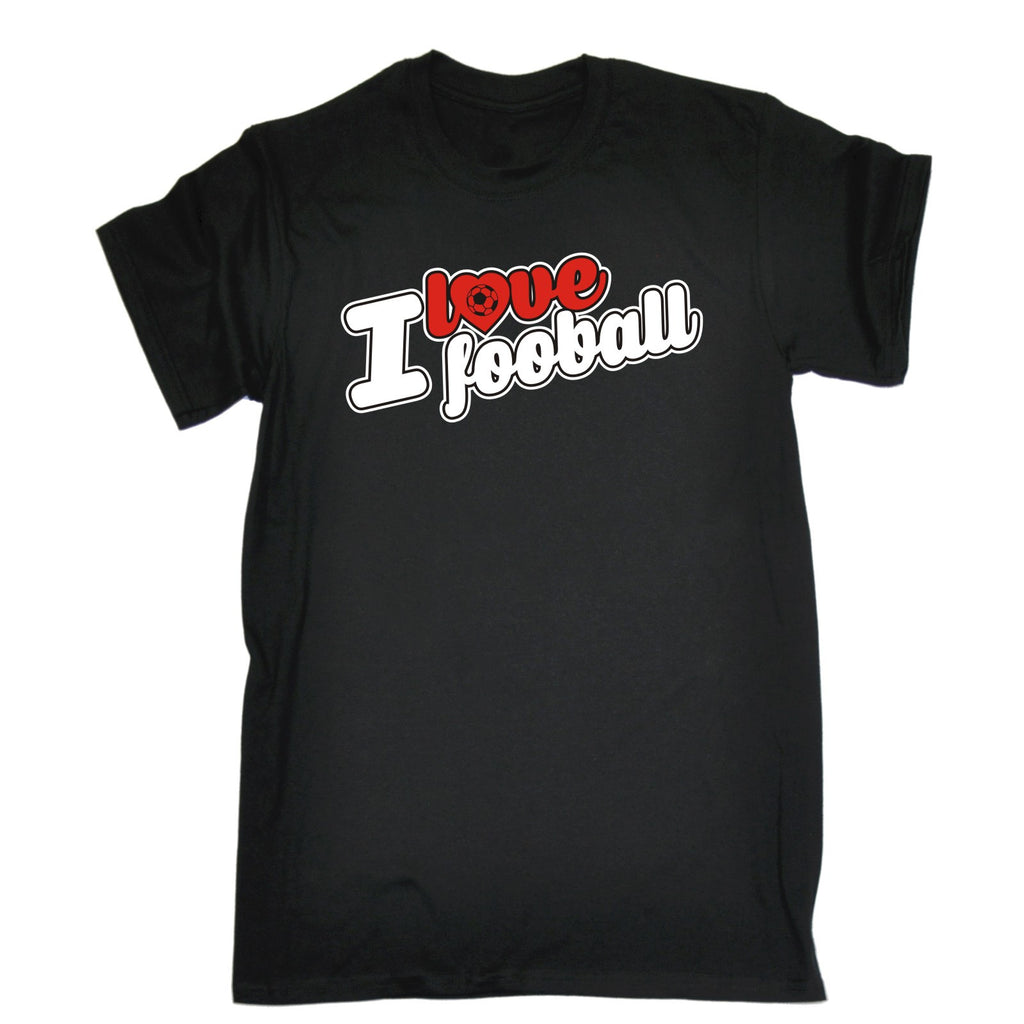 123t Men's I Love Football Funny T-Shirt