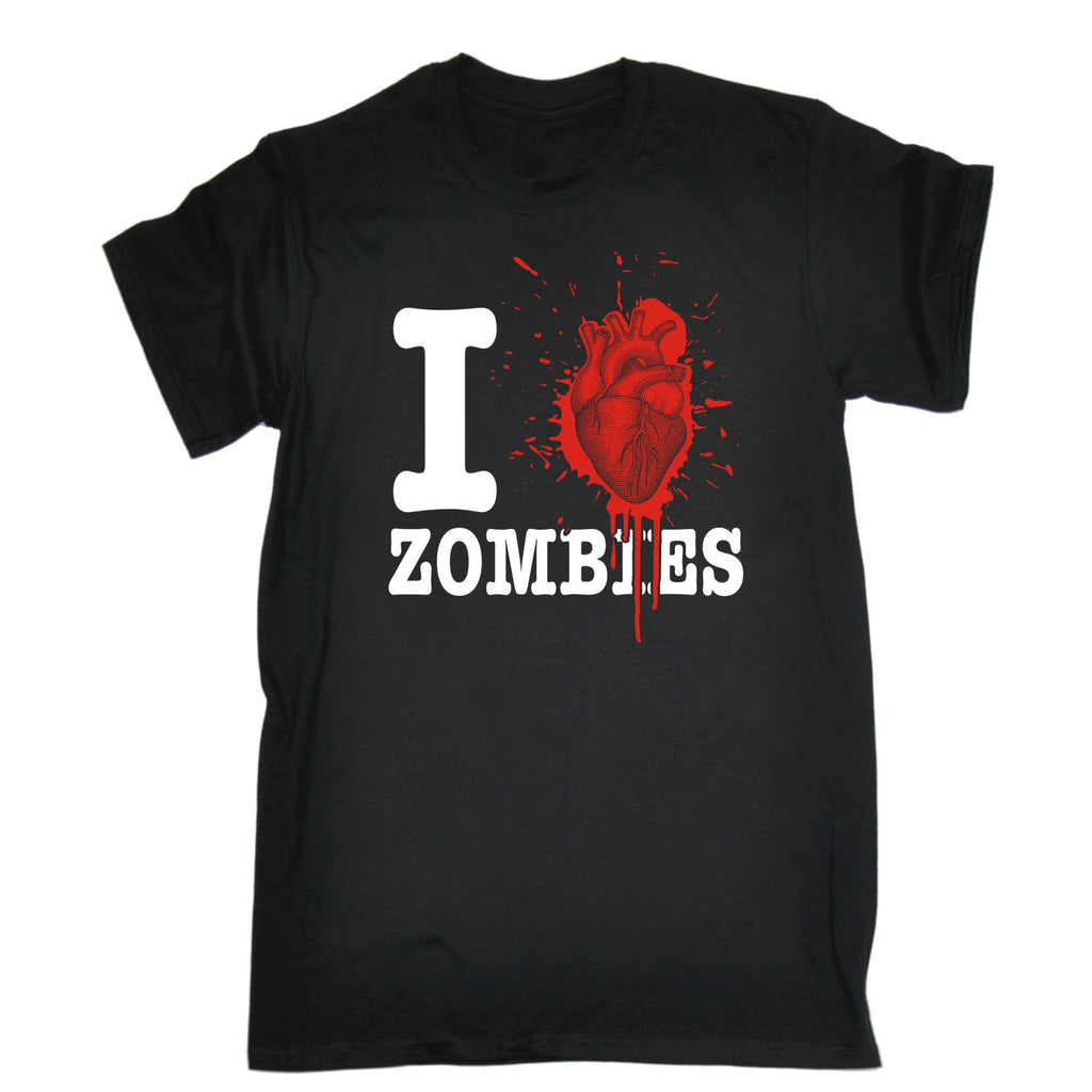 123t Men's I Heart Zombies Blood Splattered Heart Design Funny T-Shirt