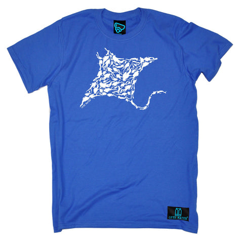 Open Water Men's Manta Ray Scuba Diver Design Scuba Diving T-Shirt