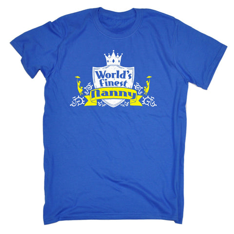 123t Men's World's Finest Nanny Funny T-Shirt