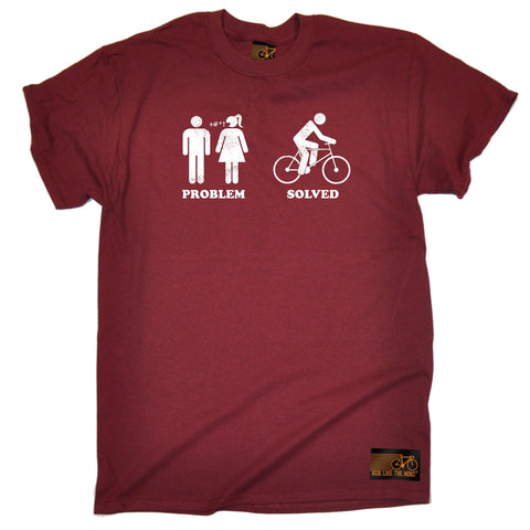 Ride Like The Wind Men's Problem Solved Cycling T-Shirt tee
