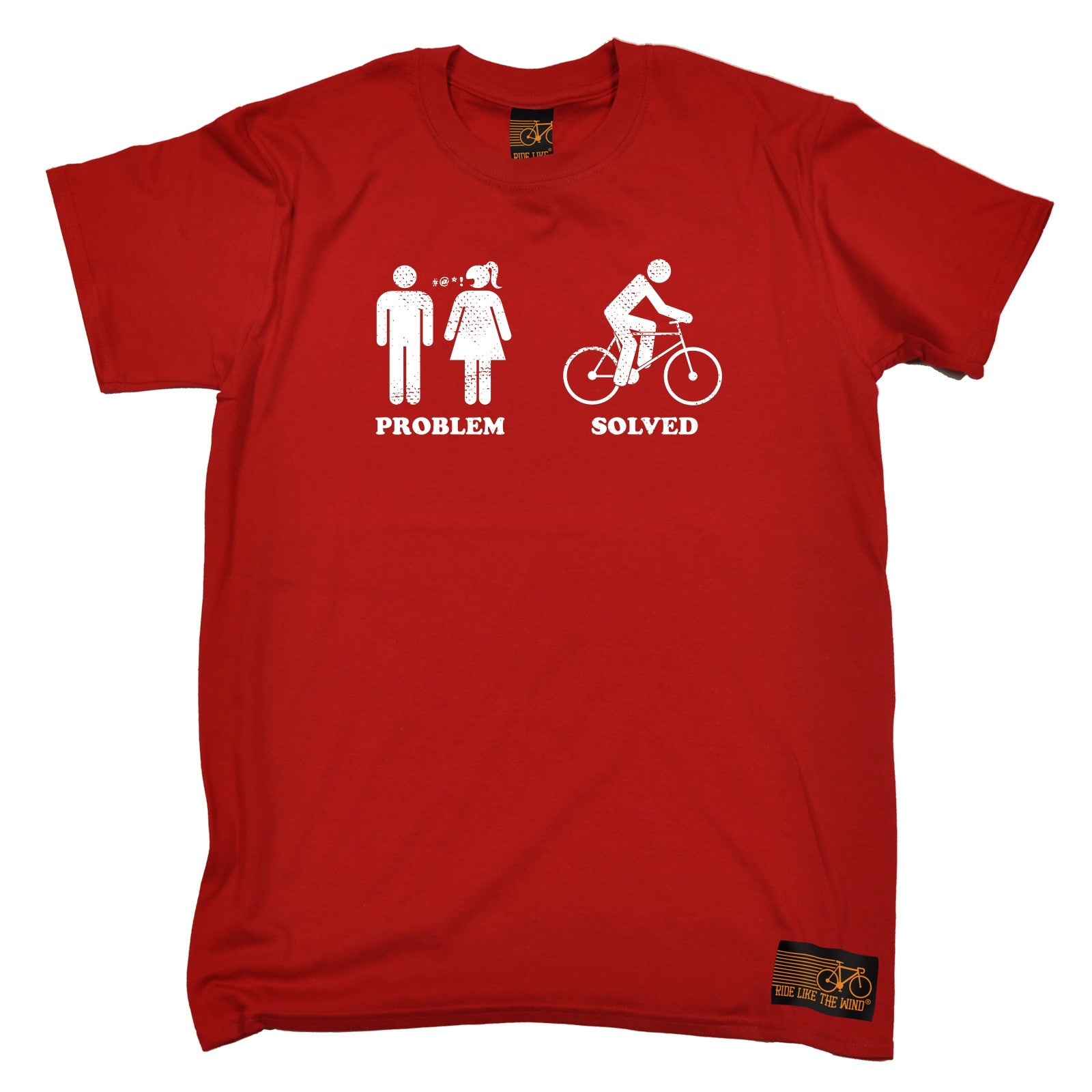 Problem Solved Cycling T Shirt Top Cycle Jersey Joke Funny