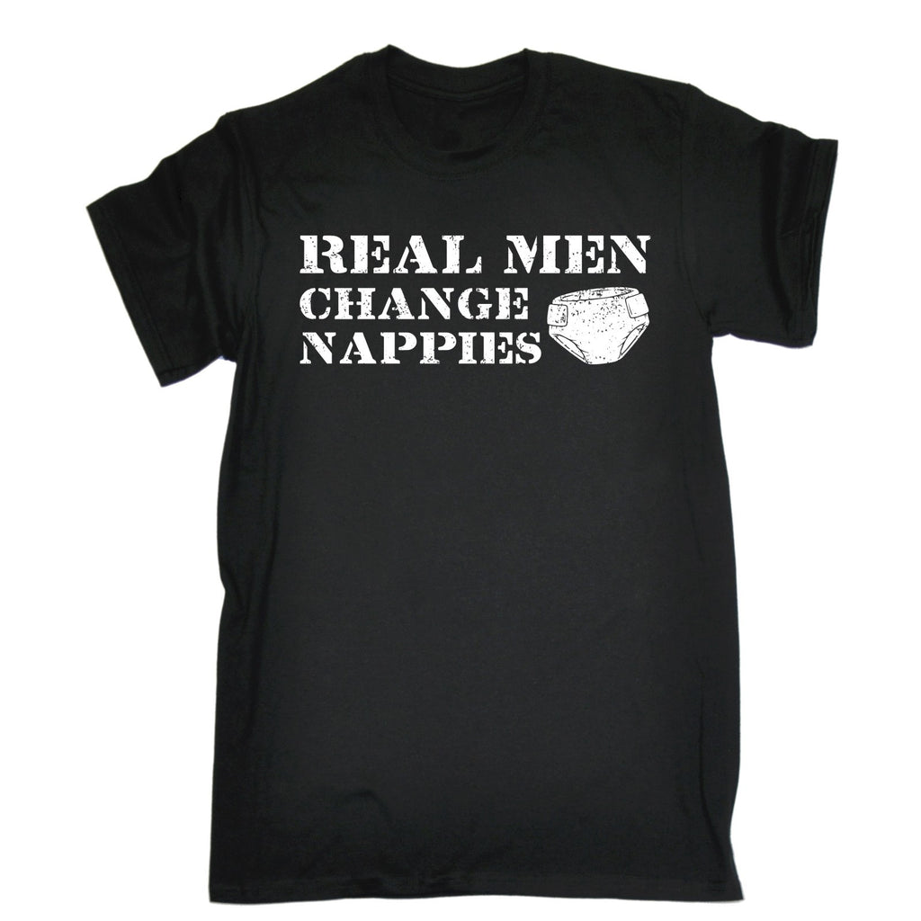 123t Men's Real Men Change Nappies Funny T-Shirt