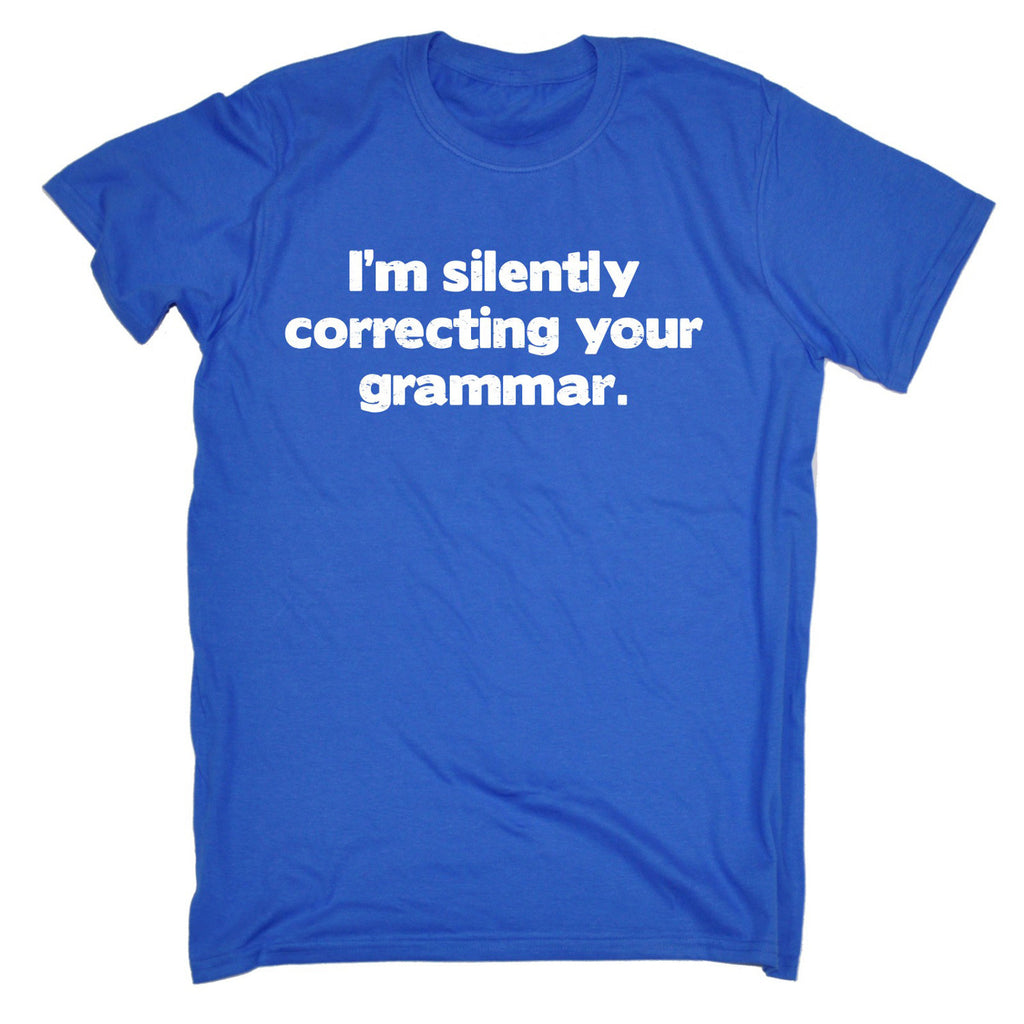 500cac4d Buy 123t Men's I'm Silently Correcting Your Grammar Funny T-Shirt at ...