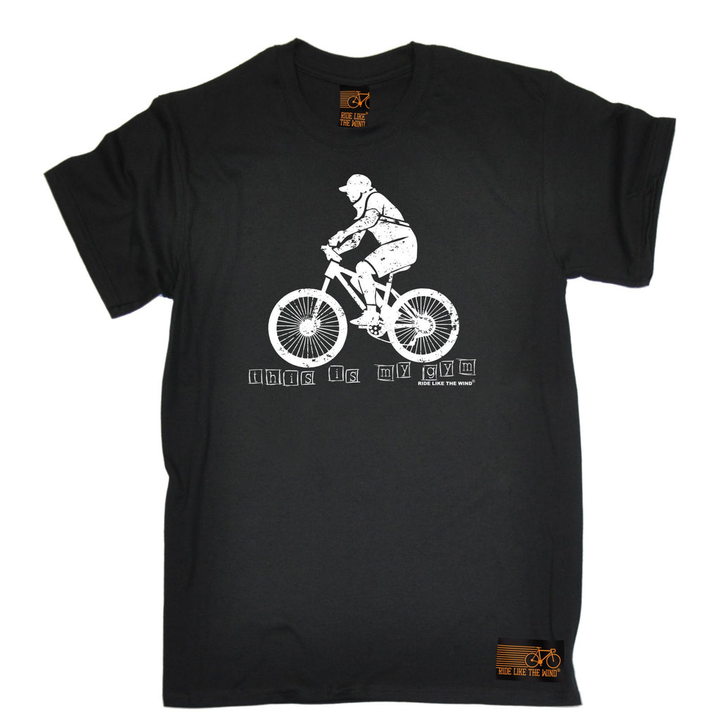 Ride Like The Wind Men's This Is My Gym ... Bike Design Cycling T-Shirt