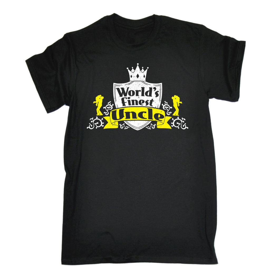 WORLD'S FINEST UNCLE T-SHIRT - 123t FUNNY SLOGAN GIFTS