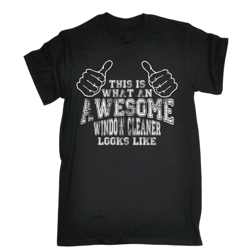 123t Men's This Is What An Awesome Window Cleaner Looks Like Funny T-Shirt