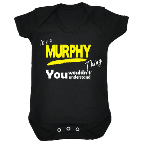 123t Baby It's A Murphy Thing You Wouldn't Understand Funny Babygrow