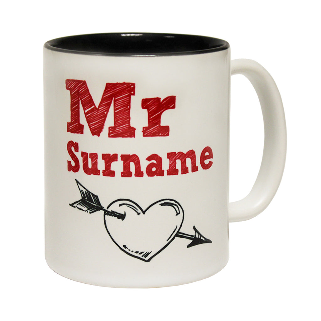 123t Mr Surname ... Personalized Design Funny Mug