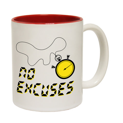 Personal Best No Excuses Funny Running Mug