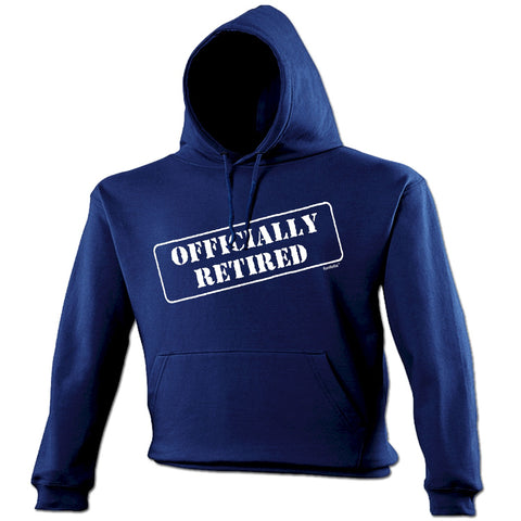 123t Officially Retired Funny Hoodie