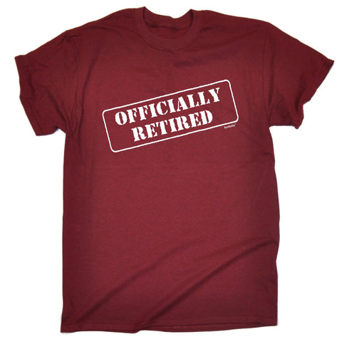 123t Men's Officially Retired Funny T-Shirt