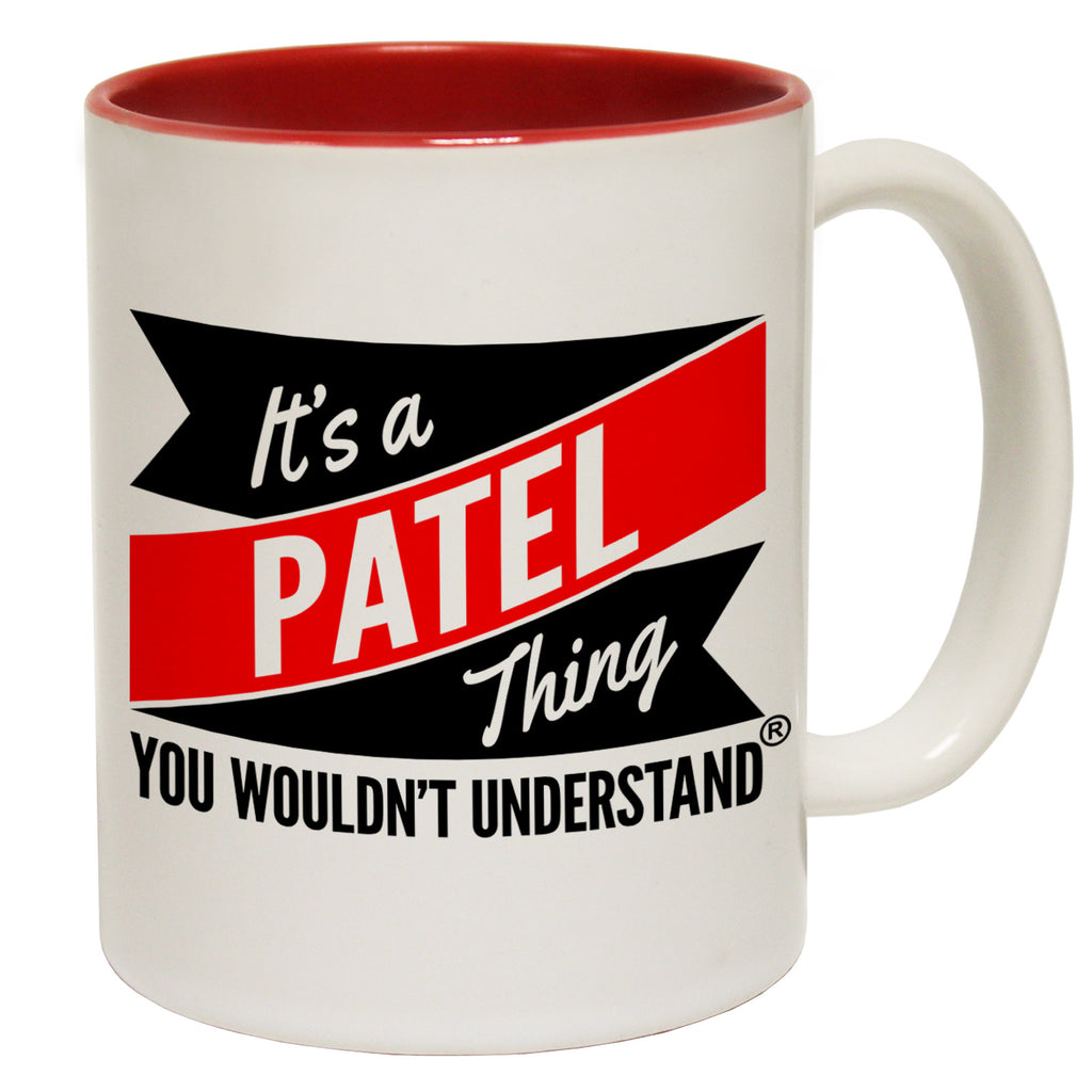 123t New It's A Patel Thing You Wouldn't Understand Funny Mug, 123t Mugs