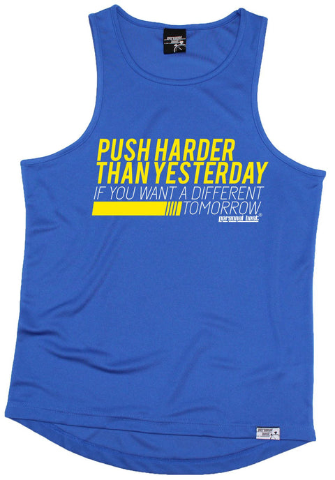 Personal Best Push Harder Than Yesterday If Want A Different Tomorrow Running Men's Training Vest