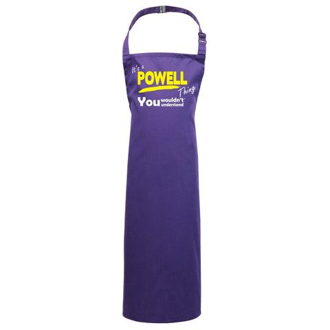 123t Kids It's A Powell Thing You Wouldn't Understand Cooking Playtime Apron