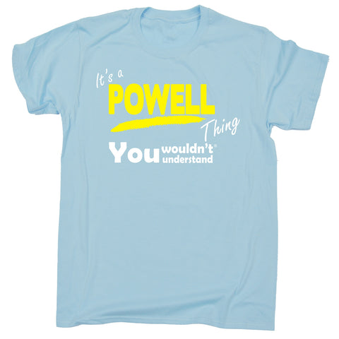 123t Kids It's A Powell Thing You Wouldn't Understand Funny T-Shirt Ages 3-13