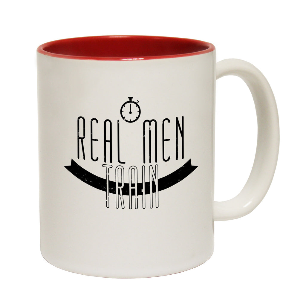 Personal Best Real Men Train Funny Running Mug