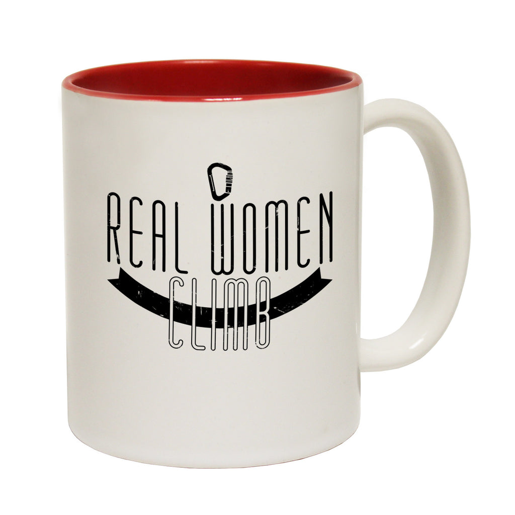Adrenaline Addict Real Women Climb Funny Rock Climbing Mug