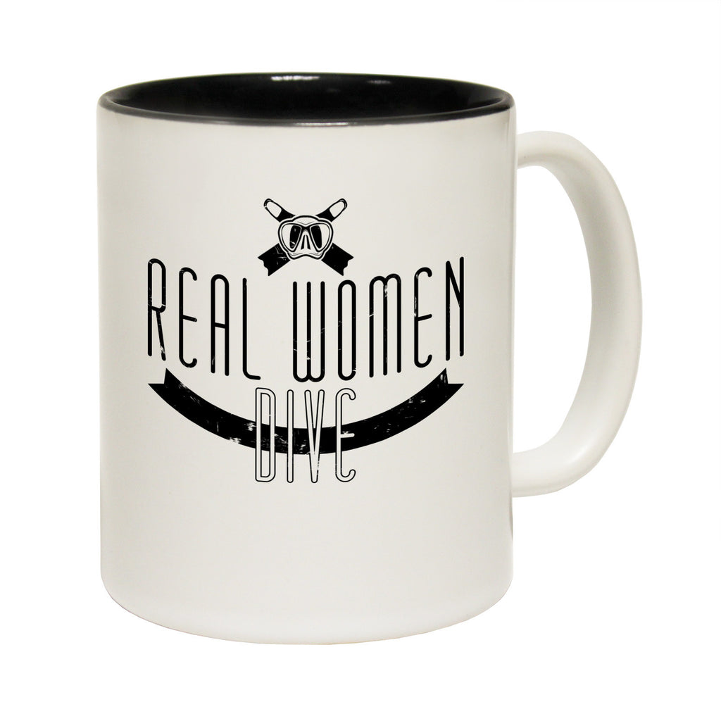 Open Water Real Women Dive Funny Scuba Diving Mug