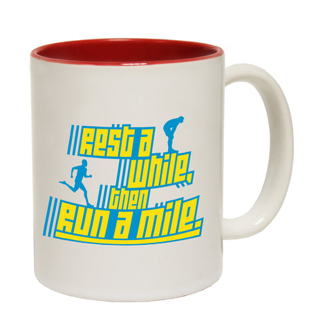 Personal Best Rest A While Then Run A Mile Funny Running Mug