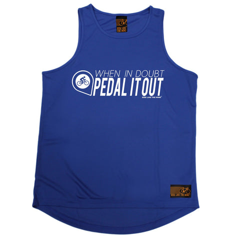 Ride Like The Wind When In Doubt Pedal It Out Cycling Men's Training Vest