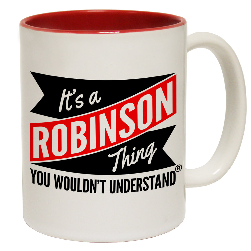 123t New It's A Robinson Thing You Wouldn't Understand Funny Mug, 123t Mugs