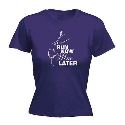 Personal Women's Best Run Now Wine Later Running T-Shirt