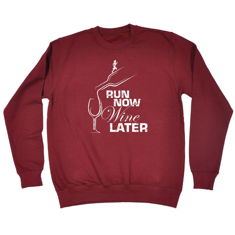 Personal Best Run Now Wine Later Running Sweatshirt