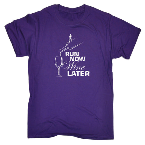 Personal Men's Best Run Now Wine Later Running T-Shirt