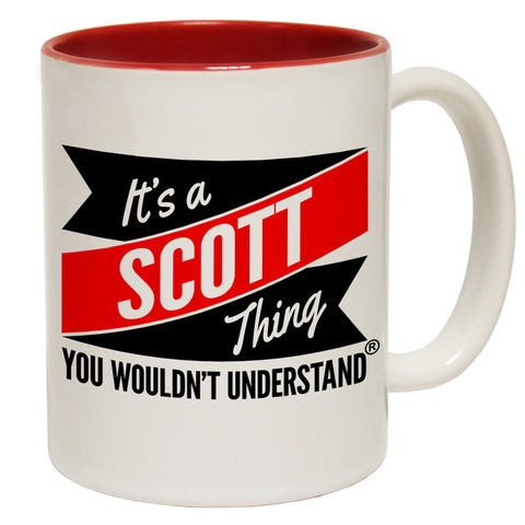 123t New It's A Scott Thing You Wouldn't Understand Funny Mug, 123t Mugs