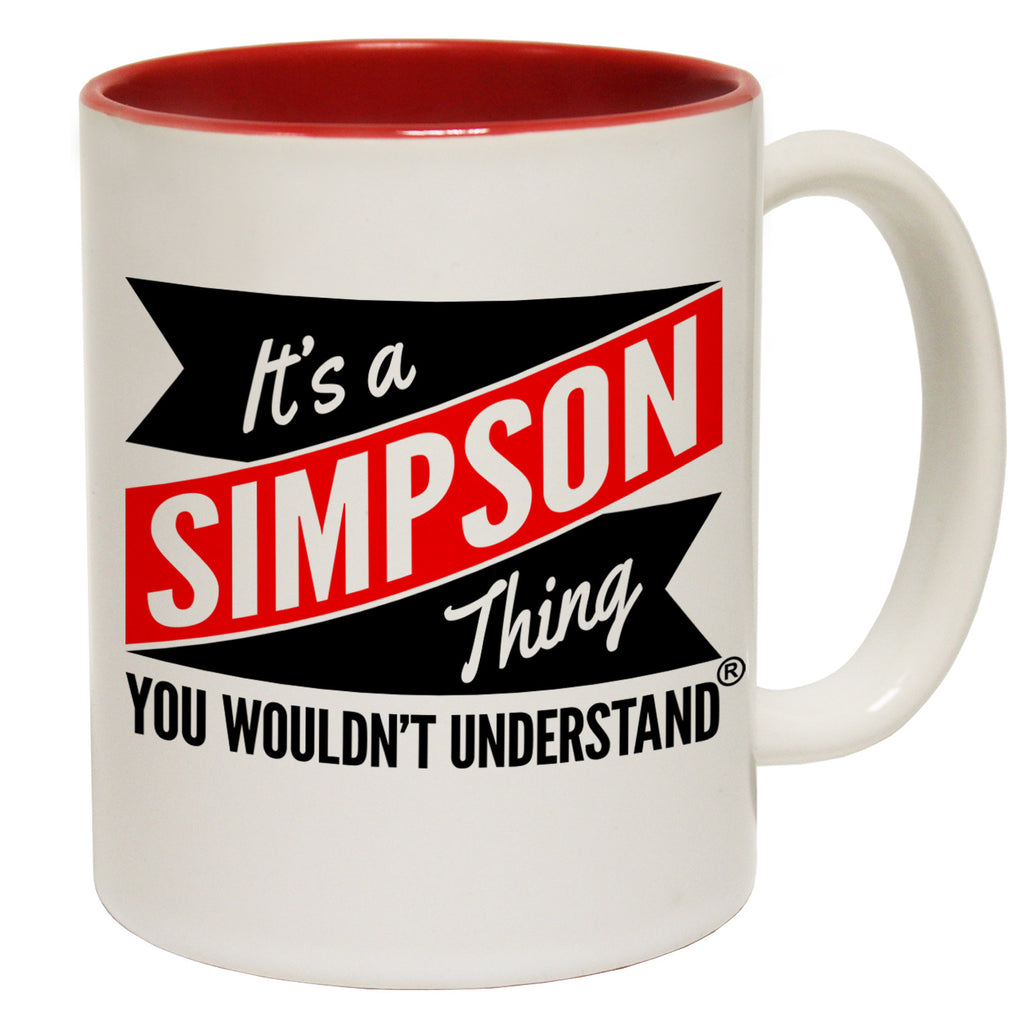 123t New It's A Simpson Thing You Wouldn't Understand Funny Mug, 123t Mugs