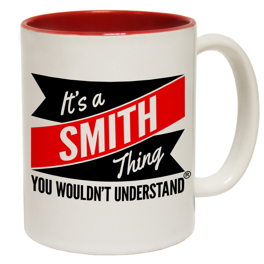 123t New It's A Smith Thing You Wouldn't Understand Funny Mug, 123t Mugs