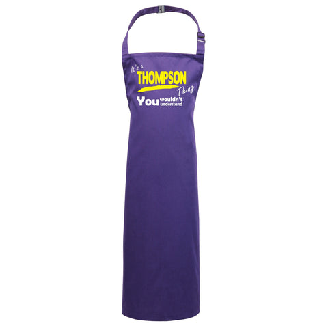 123t Kids It's A Thompson Thing You Wouldn't Understand Cooking Playtime Apron